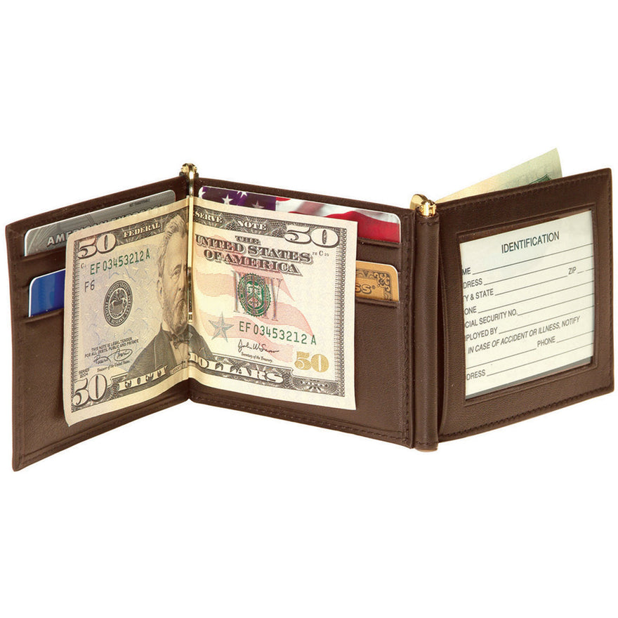 Royce Leather Men's Double Money Clip Wallet