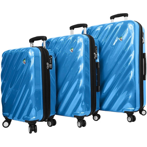 Mia Toro Onda Fusion Hardside Spinner 3 Piece Set - Luggage Factory