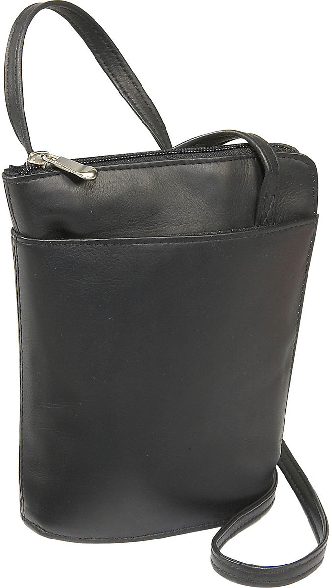 LeDonne Leather L-Zip Mini Shoulder Bag