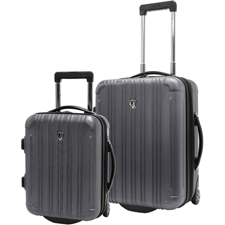 Traveler's Choice New Luxembourg 2 Piece Carry On Hardside Luggage Set