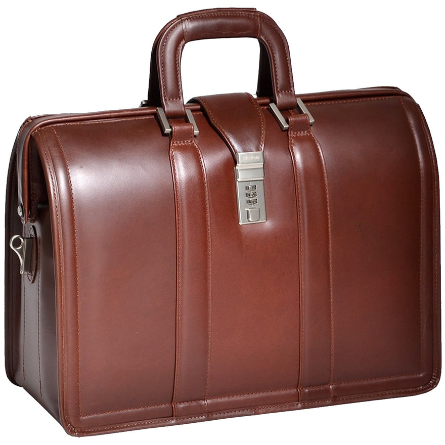 McKlein V Series Morgan Leather 17in Litigator Laptop Brief