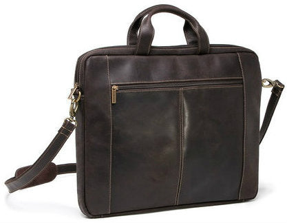 LeDonne Leather Distressed 17in Laptop Slim Brief