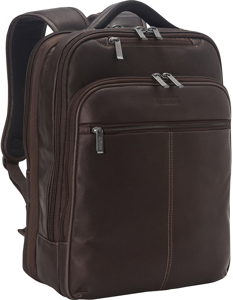Kenneth Cole Reaction Back-Stage Access Colombian Leather Laptop Backpack