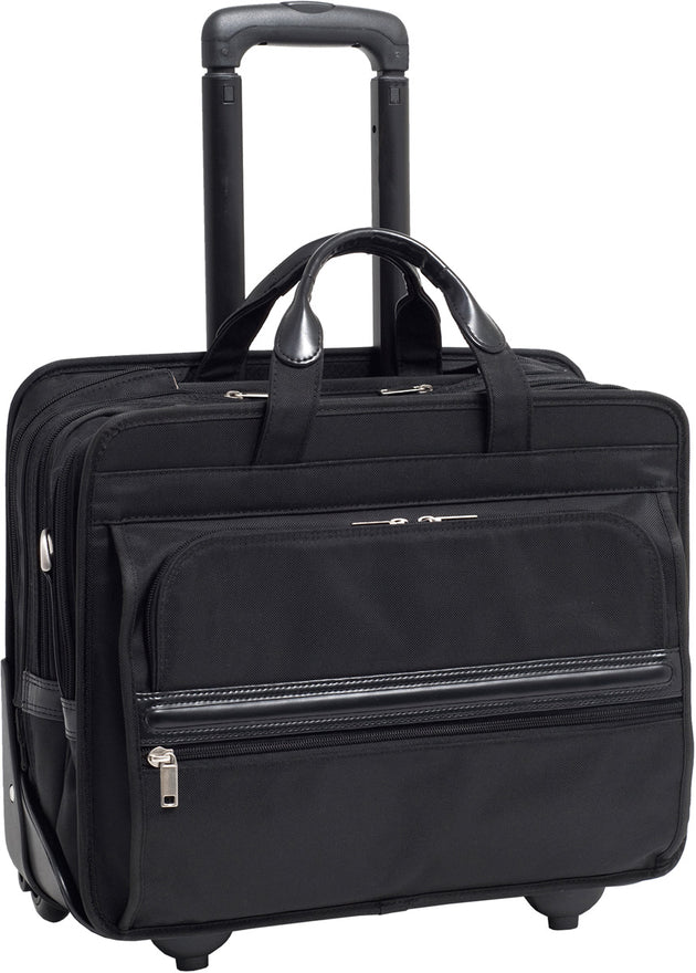 McKlein P Series Franklin Nylon 17in Wheeled Laptop Case