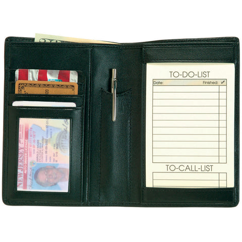 Royce Leather Passport Travel Wallet and Note Organizer