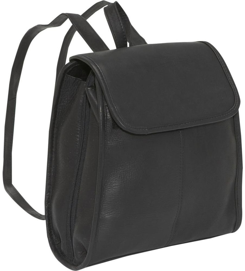 LeDonne Leather Womens Three Compartment Backpack