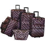 American Flyer Pemberly Buckles 5pc Luggage Set