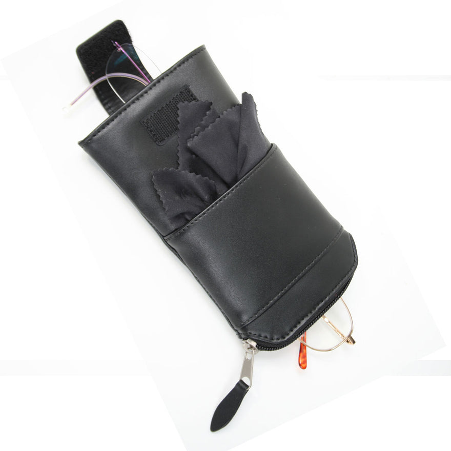 Royce Leather Double Eyeglass Carrying Case