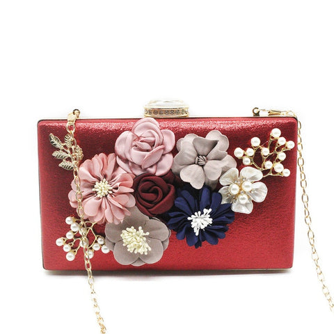 Women Messenger Bags Flower Clutches Evening