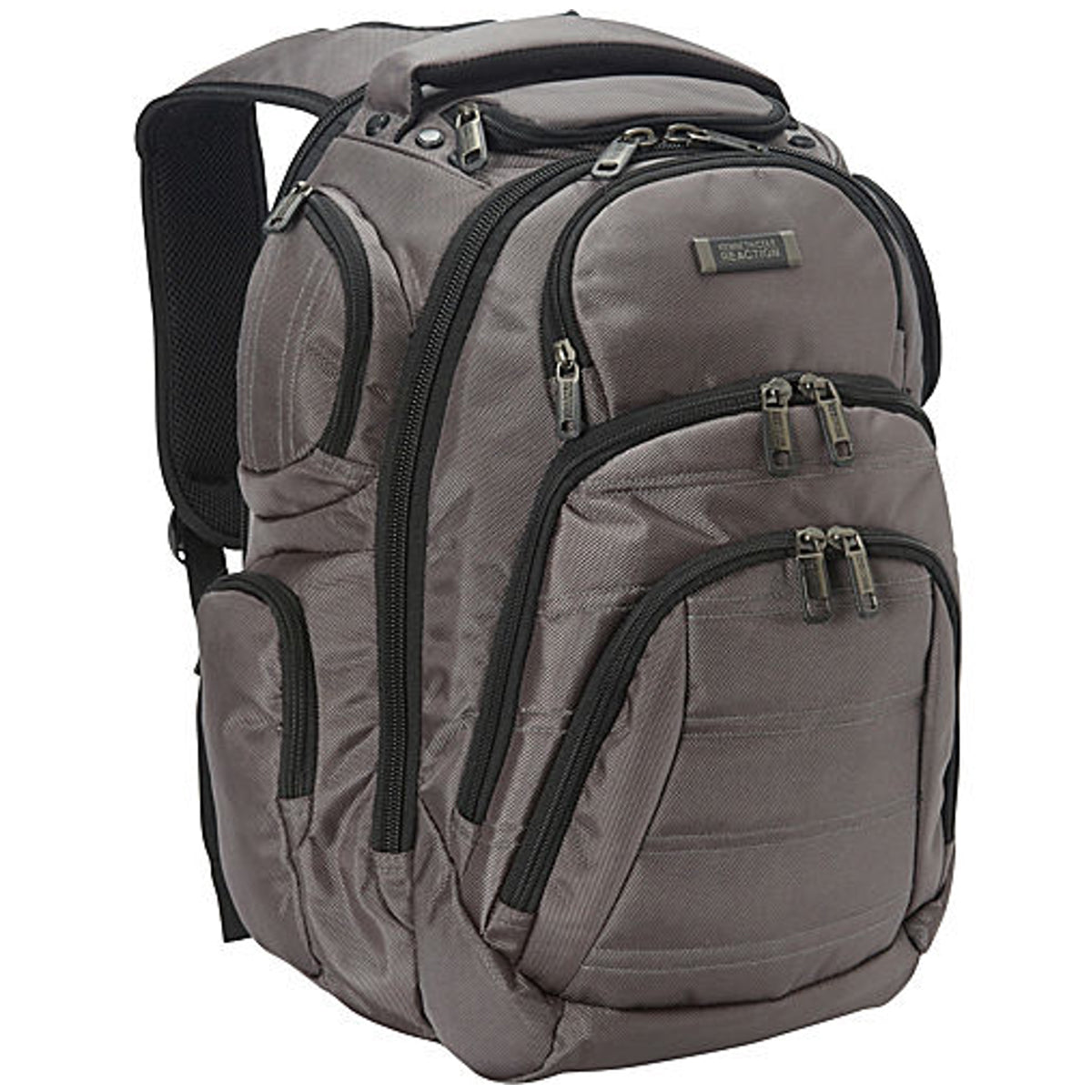"Kenneth Cole Reaction R-Tech ""Pack of All Trades"" Double Gusset Top Zip Computer Backpack - Luggage Factory"