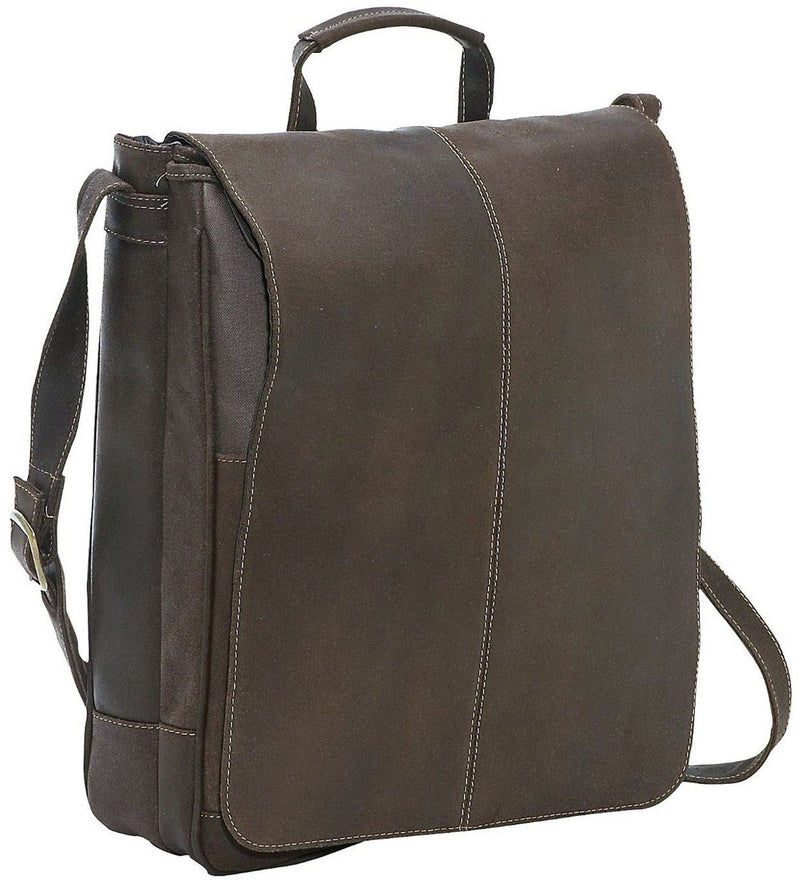 LeDonne Leather Distressed 17in Laptop Messenger - Luggage Factory