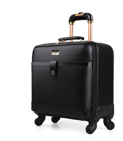 18 Inch Black Coffee Trolley Luggage Classic Business Trolley Case Men'S Travel Suitcase Rolling