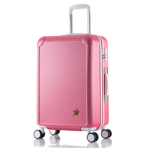 "20""24 Inches Combination Lock Trolley Case Abs Students Women Travel Frosted  Luggage Rolling"