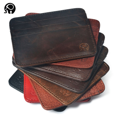 Men Wallet Business Card Holder Bank Cardholder Leather Cow Pickup Package Bus Card Holder Slim