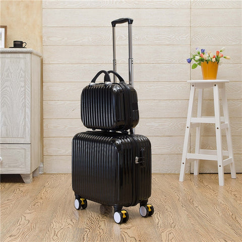 Lovely Candy Color Trolley Luggage Set With Universal Wheels,14 16Inch Korea Fashion Style Travel