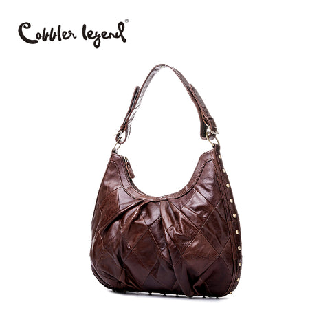 Cobbler Legend Cow Leather Shoulder Messenger Bag Women Leather Handbags Ladies Hand Bag Female