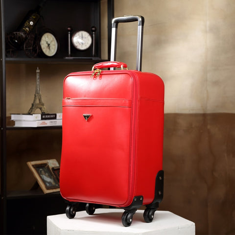 Commercial Male Cowhide Genuine Leather Luggage Bag,Password Box,High Quality 16 20Inches Genuine