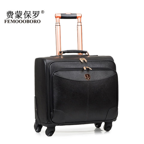 First Layer Of Cowhide Leather Case Genuine Leather Trolley Luggage Bag Travel Bag 16 20
