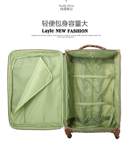 "Wholesale!20 24 28"" Oxford Fabric Flower Printed Trolley Luggage Suitcases Bags Set,Large"