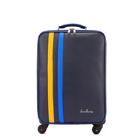Wholesale!18 20 22 24Inch Vintage Pu Leather Travel Luggage Bag Set For Girl,Lovely Blue Europe