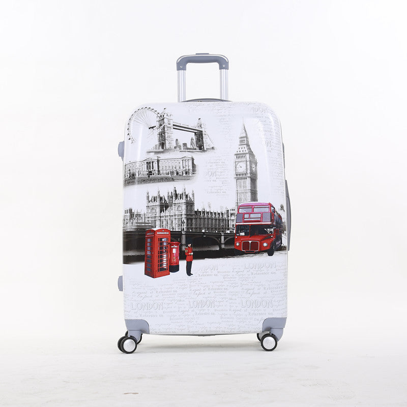20 Inch Pc Hardside Boarding Trolley Luggage,London Telephone Booth Travel Luggage Bags On