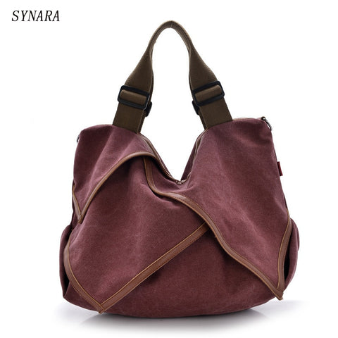 High Quality Big Women Canvas Handbag Shoulder Bags Stylish Casual Women Bag For Travel Lady