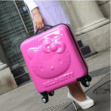 Lovely Hello Kitty Luggage Children Trolley Travel Bag 18 Inch Cartoon Kids Suitcases Hello Kitty