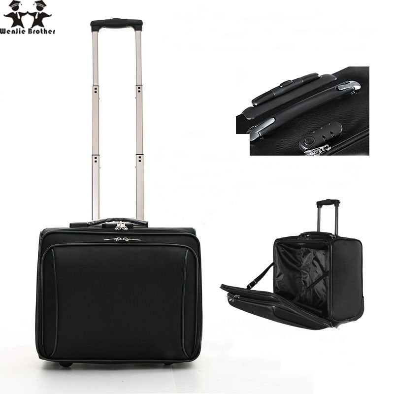 Wenjie Brother New Arrival Hot  Oxford Cloth Business Trolley Luggage Travel Suitcase Boarding  For