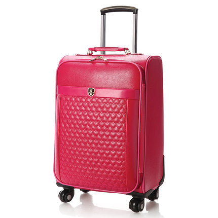 Suitcase Trolley Luggage Travel Bag Female Universal Wheels Luggage Red Married Box Bride Of The