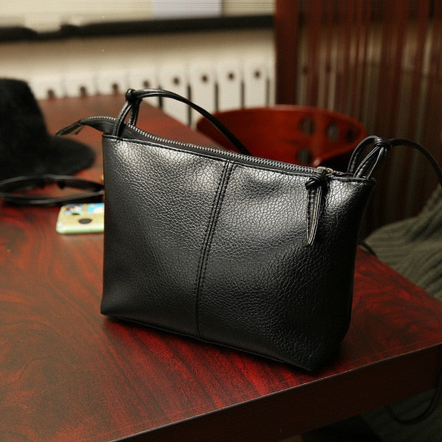 2017 New Fashion Black Women Messenger Bag Designer Handbags Girls Leather Cross Body Handbags