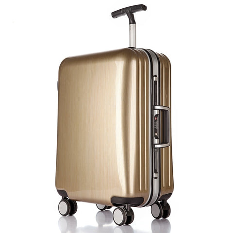 High Quality 22/25/29 Inch Fashion Trolley Case Aluminum Frame Travel Luggage Abs+Pc Suitcase