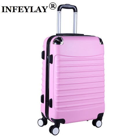 20/24 Inches Abs Girl Students Spinner Trolley Case Child Creative Travel Luggage Rolling