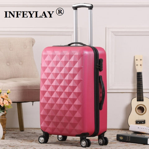 20/24 Inch Abs Girl Students Fashion Spinner Trolley Case Child Travel Luggage Men Rolling Suitcase