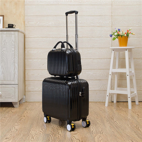 Wholesale!16Inch Pc Trolley Luggage With Cosmetic Box(2Pieces/Set),Fashion Candy Color Trolley