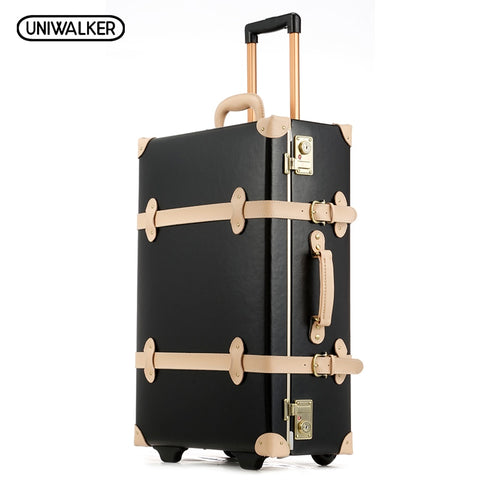 20 22 24 inches Cow Leather Trolley Bags Men Travel Hand Luggage Rod Box Fashion Waterproof Cowhide Suitcase Bag With TSA Lock