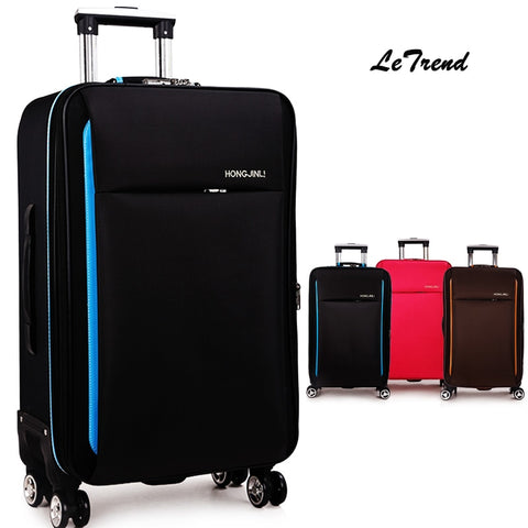 Letrend New Fashion Oxford Rolling Luggage Spinner Men Student Trolley Bag Suitcases Travel Bag