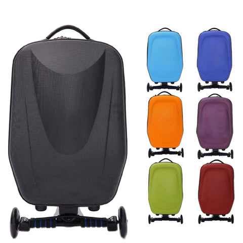 New 21Inch Hard-Shell Wheeled Wheels Scooter Luggage Suitcase With Skateboard For Travel Business