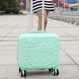 Wholesale!Girls Cute 14 16 Abs Hello Kitty Travel Luggage Sets,High Quality Female Lovely Travel