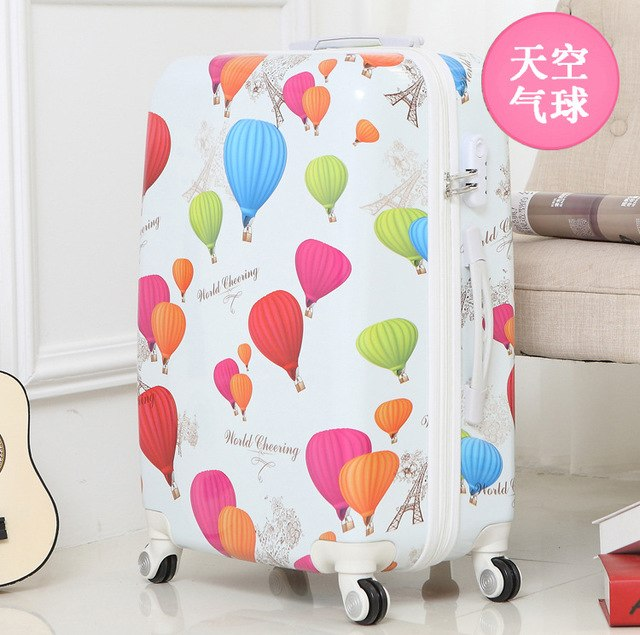 Letrend Fashion Student Abs Rolling Luggage Spinner Wheels Suitcase Trolley 20 Inch Women Travel