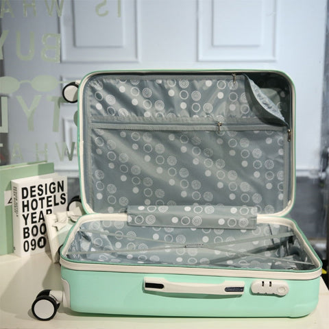 Star Style Luggage Trolley Luggage Female Universal Wheels Travel Bag Picture Box14 20Password