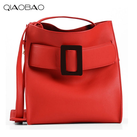 Qiaobao 100% Genuine Leather Bag Designer Handbags High Quality Dollar Prices Shoulder Bag Women