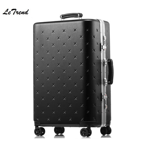 Letrend New Korean Rolling Luggage Spinner Trolley Wheel Suitcase Aluminium Frame Travel Bag