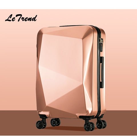 Letrend Unique Design  Women Suitcases Wheel Trolley Rolling Luggage Spinner Travel Bag Carry On
