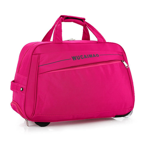 Rolling Luggage Trolley Bag Women Travel Bags Metal Hand Trolley Female&Male Bag Large Package