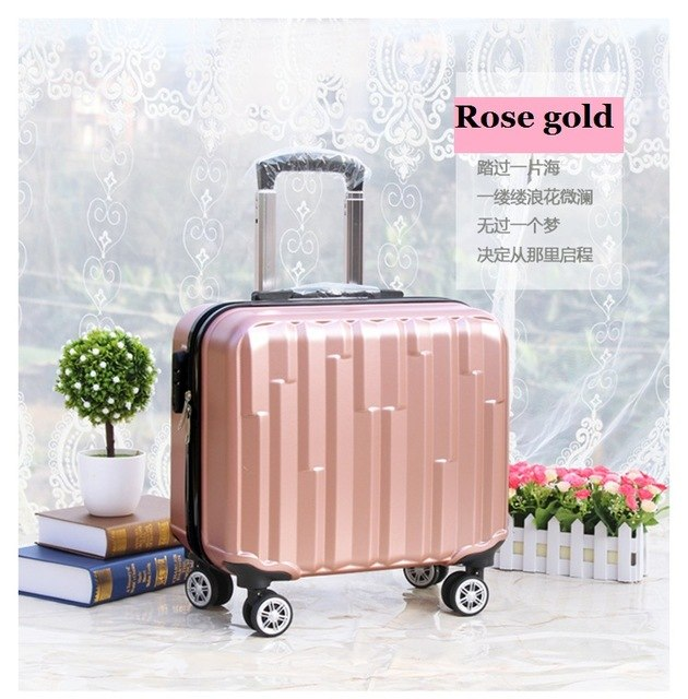 bb8a8db8337e Hot 18 Inches Girl Boy Abs Pull Rod Box Students Trolley Case Child Travel  Luggage Rolling Suitcase