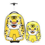 Letrend New Fashion Cartoon Cute Animal Children Rolling Luggage Set Boy Girls Trolley Travel