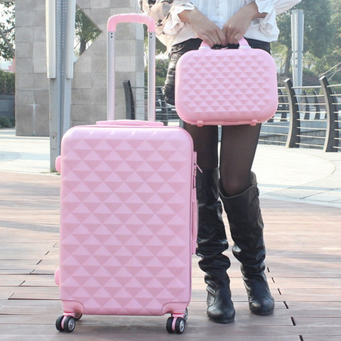 Wholesale!14 24Inches Abs Pc  Red Travel Trolley Luggage Bag Of Marriage Picture Box Female