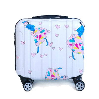 16 Inches Girl Cartoon Students Universal Wheel Trolley Case Child Travel Luggage Rolling