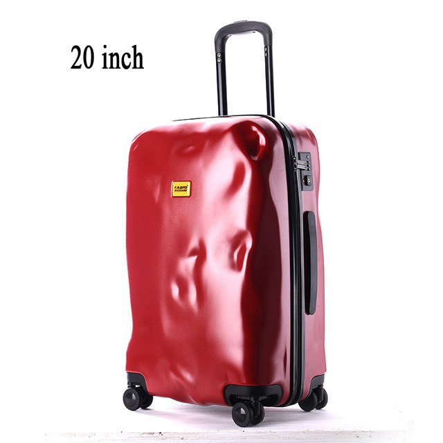 2016 New Fashion Crash Mode Solid Zipper Design Trolley Suitcase/Tsa Lock Luggage Suitcases/Women