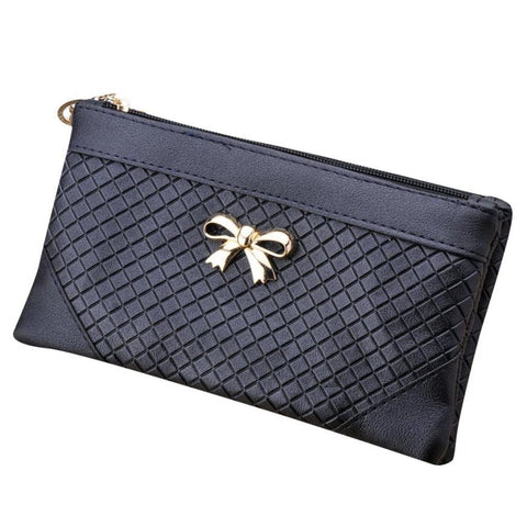 Casual Day Clutches Women Bags Bow Weave Pattern Wallet 2016 Fashion Shoulder Messenger Bag Handbag
